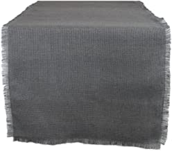 """DII 100% Jute Rustic Vintage Table Runner for Parties BBQ's Everyday & Holidays Use, 15x48"""", Gray"""