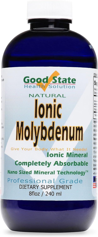 Good State Liquid Ionic Molybdenum (96 servings at 2 mg elemental, plus 2 mg fulvic acid - 8 fl oz)