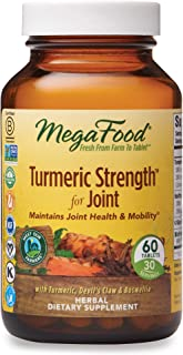MegaFood, Turmeric Strength for Joint, Maintains Joint Health and Mobility, Vitamin and Herbal Dietary Supplement, Gluten Free, Vegan, 60 Tablets (30 Servings) (FFP)