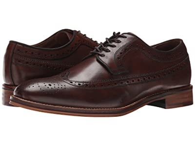 Johnston & Murphy Conard Casual Dress Wingtip Oxford (Mahogany Calfskin) Men