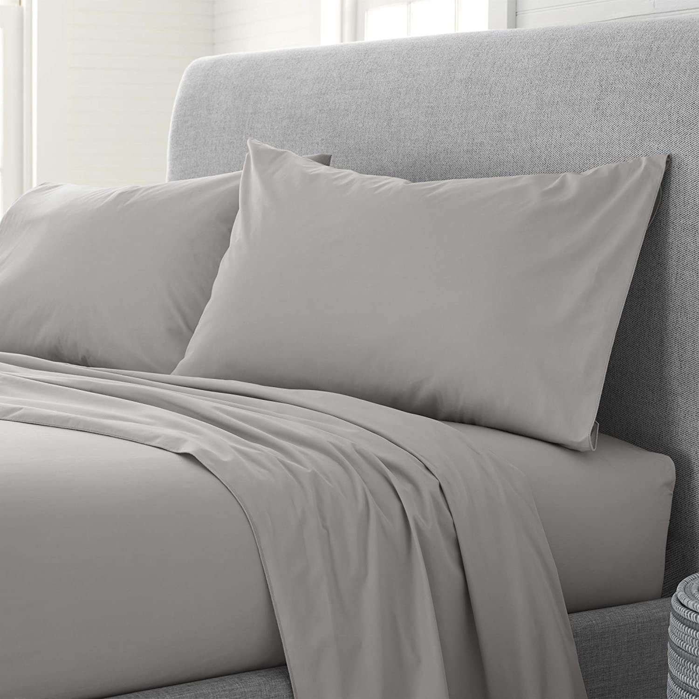 EcoPure Comfort Wash Sheet Set Twin Light Gray Free shipping New XL Max 86% OFF