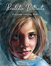 Realistic Portraits Grayscale Coloring Book