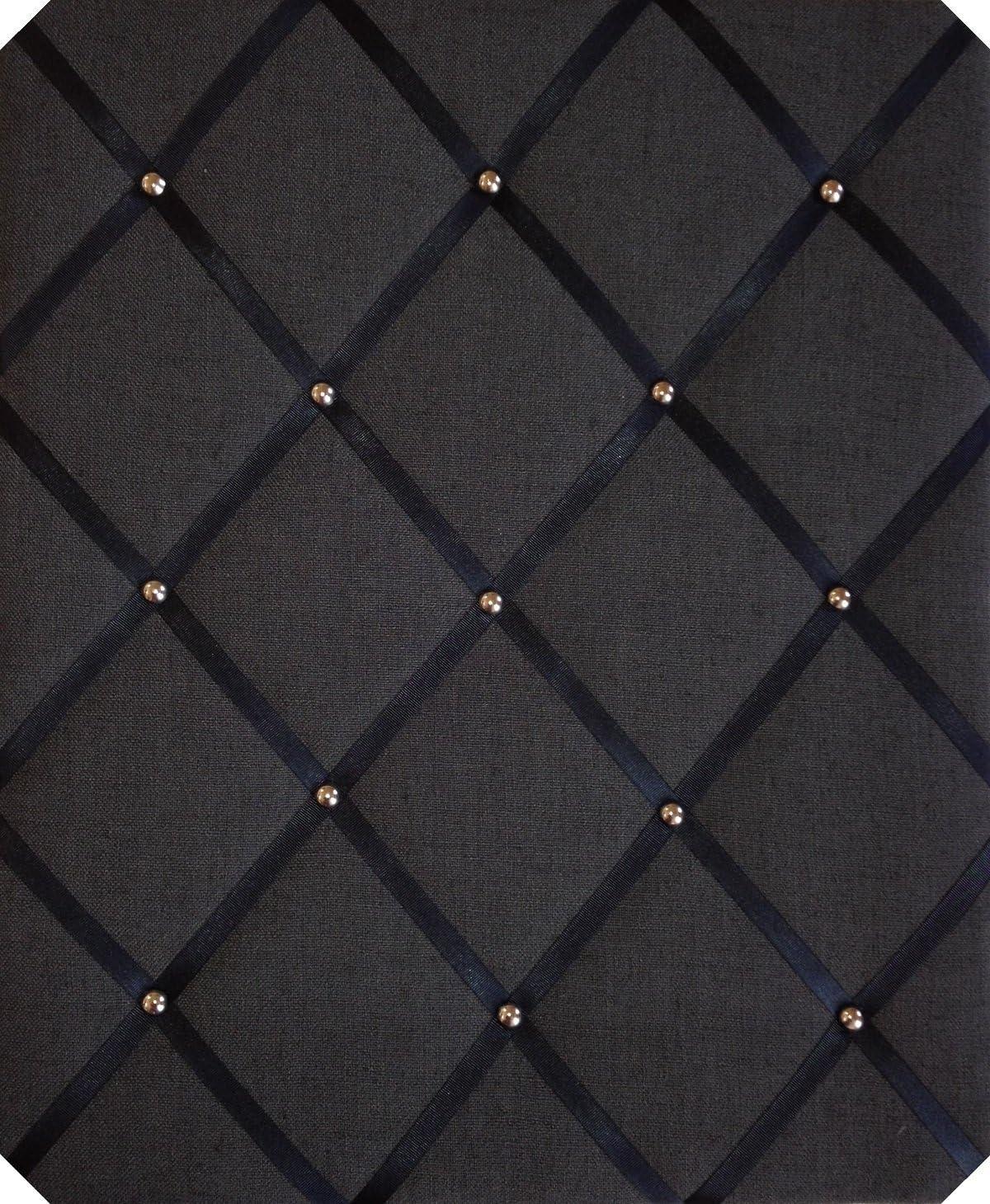 Notice ついに再販開始 Boards Large 40x48cm 売れ筋 Black Linen Cri Studs with Chrome