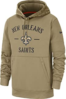New Orleans Saints 2019 Men's NFL Salute to Service Tan Hoody
