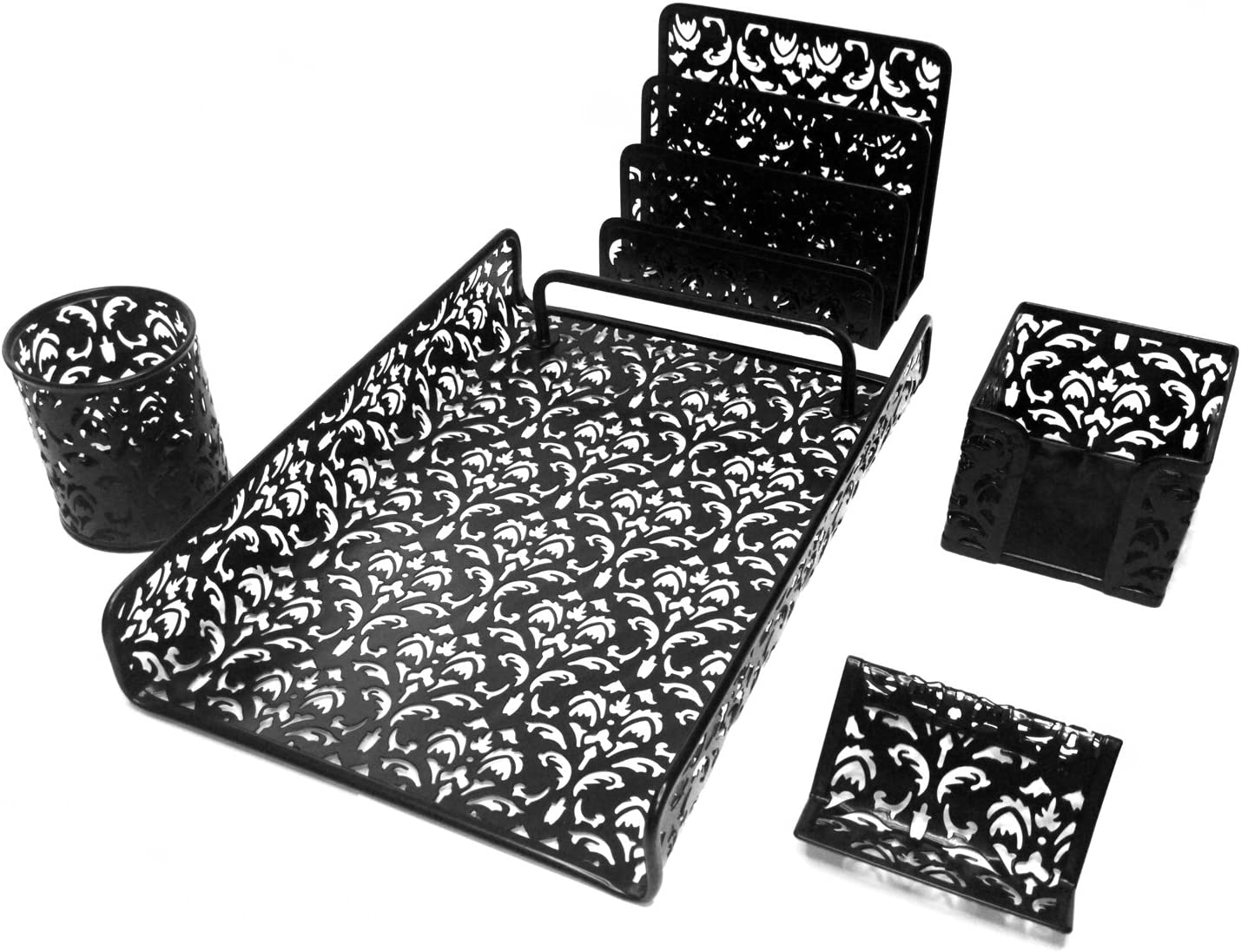 Majestic Goods 5 Piece Flower Free shipping anywhere in the nation Design Office Mesh D Punched Max 54% OFF Metal