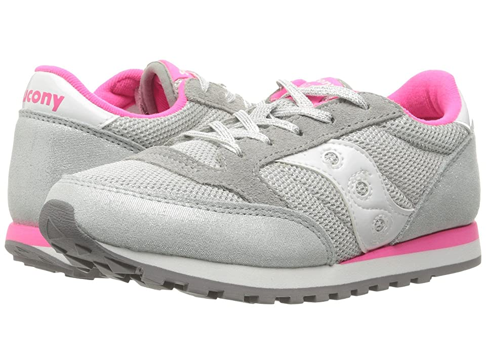 Saucony Kids Jazz Original (Little Kid) (Silver/Pink) Girls Shoes