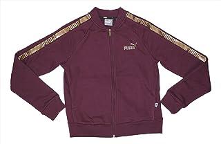 PUMA Long Sleeve Logo Print Tape Full Zip Athletic Sweatshirt Jacket