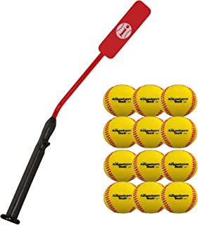 Mpo Insider Bat Size 6 (Ages 12 and Under) & Anywhere Ball Complete Baseball Softball Batting Practice Kit