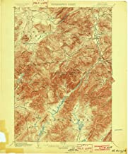 YellowMaps Mt Marcy NY topo map, 1:62500 Scale, 15 X 15 Minute, Historical, 1902, 20.1 x 16.6 in