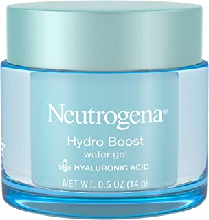 Neutrogena Hydro Boost Hyaluronic Acid Hydrating Water Face Gel Moisturizer for Dry Skin, Oil-Free, Non Comedogenic, Trave...