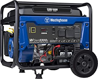 Westinghouse WGen5300s Storm Portable Generator with Electric Start and 120/240 Volt..