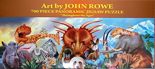 Art by John Rowe 700-Piece 34 x 12 Panoramic Jigsaw Puzzle - Throughout the Ages by E and L