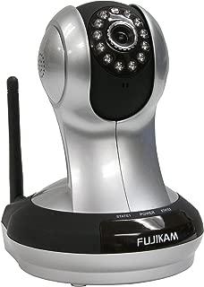 Fujikam Plug & Play HD Pan & Tilt IP/Network Camera with Two-Way Audio and Night Vision (Gray)