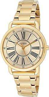 Guess W1148L2 analog Stainless Steel Dress Watch For Women - Gold