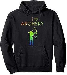 I Love Archery Women's Archery Pullover Hoodie
