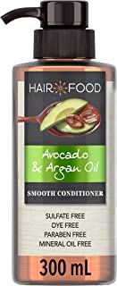 Sulfate Free Conditioner, Dye Free Smoothing Treatment, Argan Oil and Avocado, Hair Food, 300ml