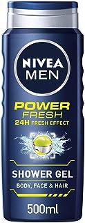Gel refrescante de ducha para hombres Nivea Men Power, 500ml, paquete de 6 unidades