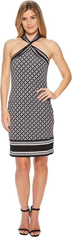 MICHAEL Michael Kors Rope Twist Neck Border Dress