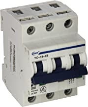 Yc-16-3B Yuco Supplemental Protector Din Rail Miniature Circuit Breaker 3P 16A B Curve 277/480V 50/60Hz Tuv Ul 1077 European Design Csa C22.2