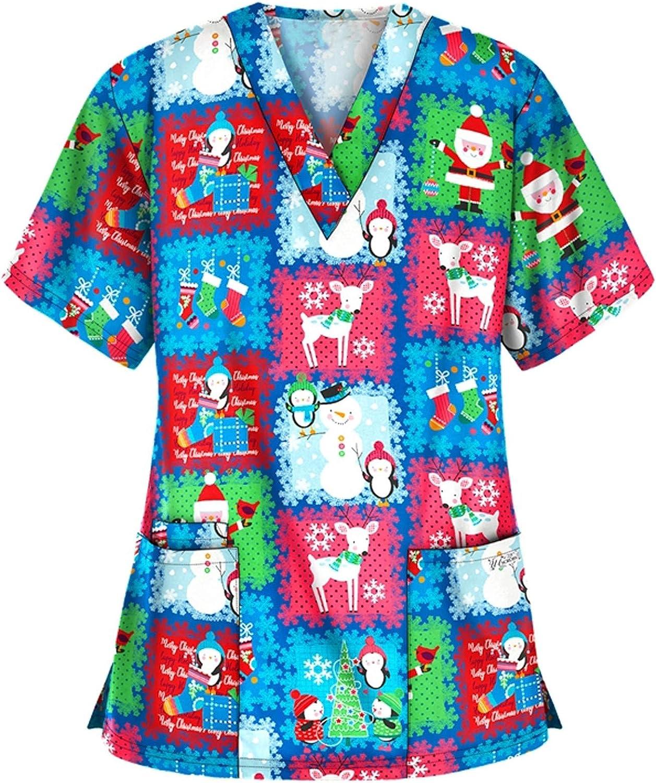 Henwerd Women Short Long Sleeve Uniform Working Nursing Sale special price service Christma