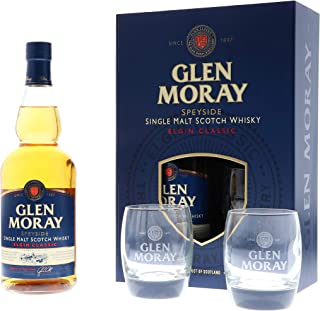 Glen Moray Classic  2 Glasses Whisky 1 x 0.7 l