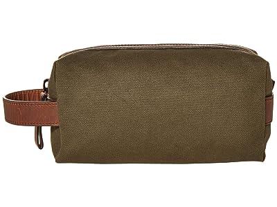 Shinola Detroit Mack Travel Kit Waxed Canvas/Navigator GM (Moss) Handbags