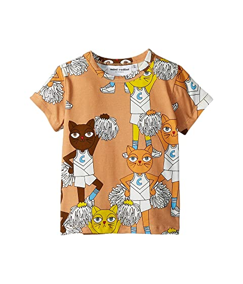 mini rodini Cheercats Short Sleeve Tee (Infant/Toddler/Little Kids/Big Kids)