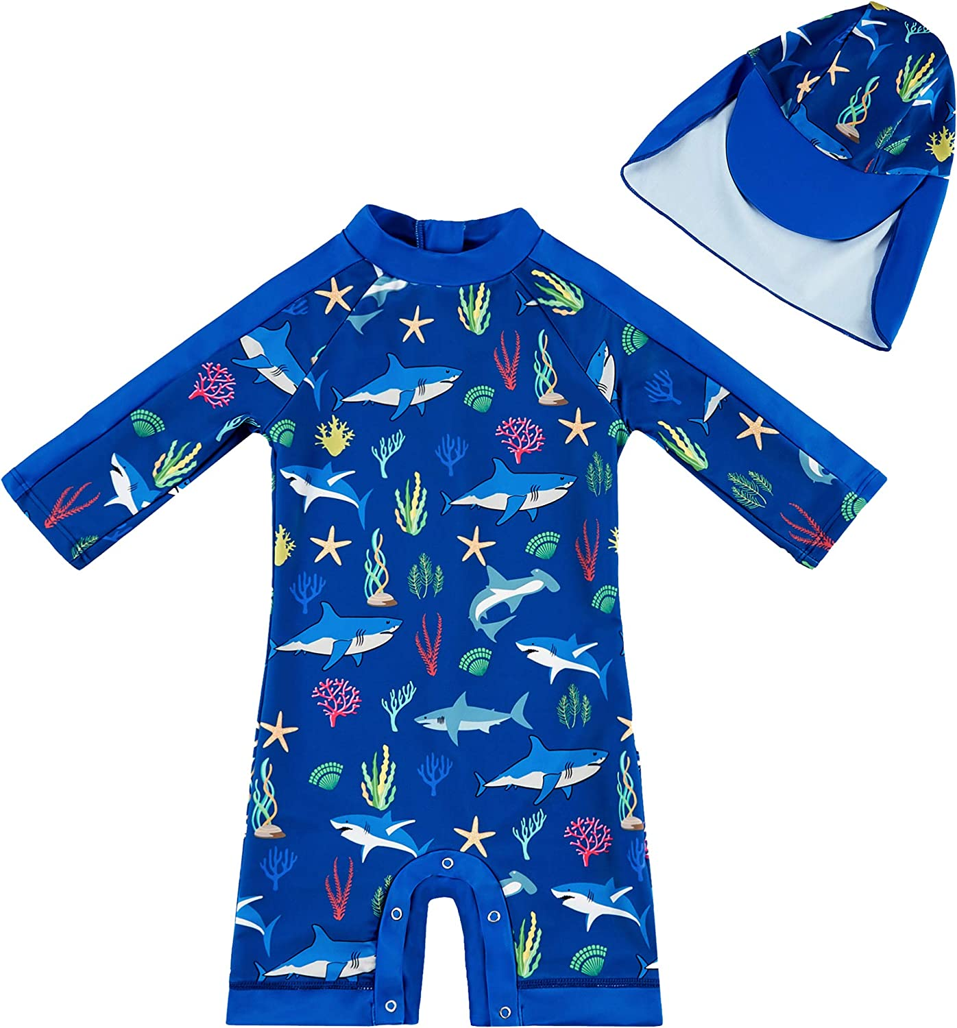 upandfast Free Shipping Cheap Bargain Gift Baby Boy Girl Swimsuit with Sales of SALE items from new works UPF Sun 50+ Pr Bottom Snap