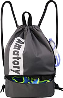 Drawstring Backpack Gym String Bag Sports Athletic Sack Gymsack Sackpack School Bookbag Men Women Boys Girls Kids