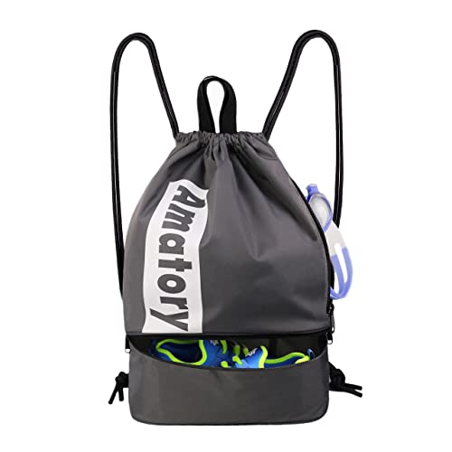 0f9e59d6ec9 Drawstring Backpack Sports Athletic Gym String Bag Sackpack Gymsack Cinch  Sack School Bookbag Men Women Boys