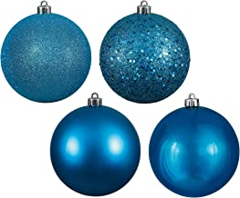"Vickerman 3"" Turquoise 4 Finish Ball Ornament 16 per Box"