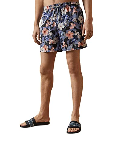 Ted Baker Inspect Floral Swim Shorts (Blue) Men