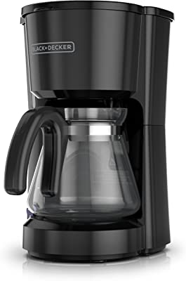 Black + Decker CM0700BZ Cafetera de 5 tazas, color negro