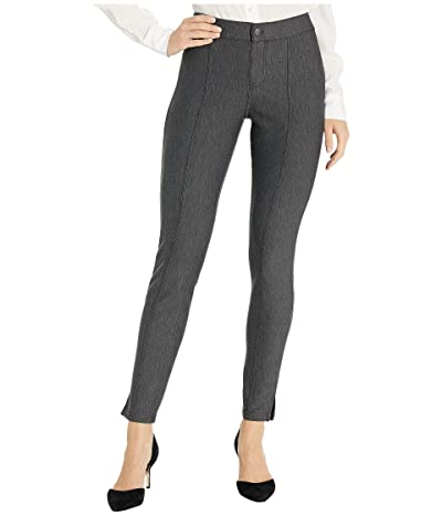 HUE Pintucked Tweed 7/8 Leggings (Black) Women