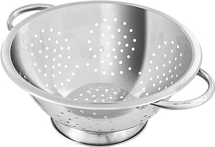 Preisvergleich für Fackelmann Abseihschüssel, Küchensieb aus Edelstahl, Nudelsieb mit Griffen (Farbe: Silber), Menge: 1 Stück