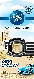 Ambipur Vanilla Bliss Car Air Freshener Mini Clip 2.2ml