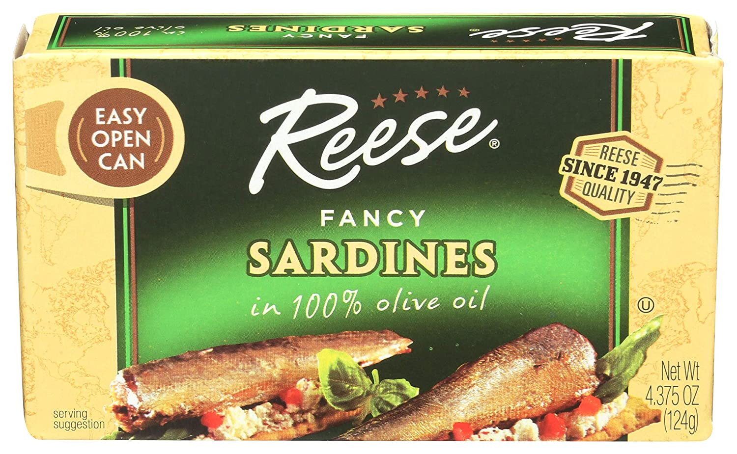 Reese fancy sardlines in 100% Olive 4.375 Ounce 10 2021 Save money Oil of Pack
