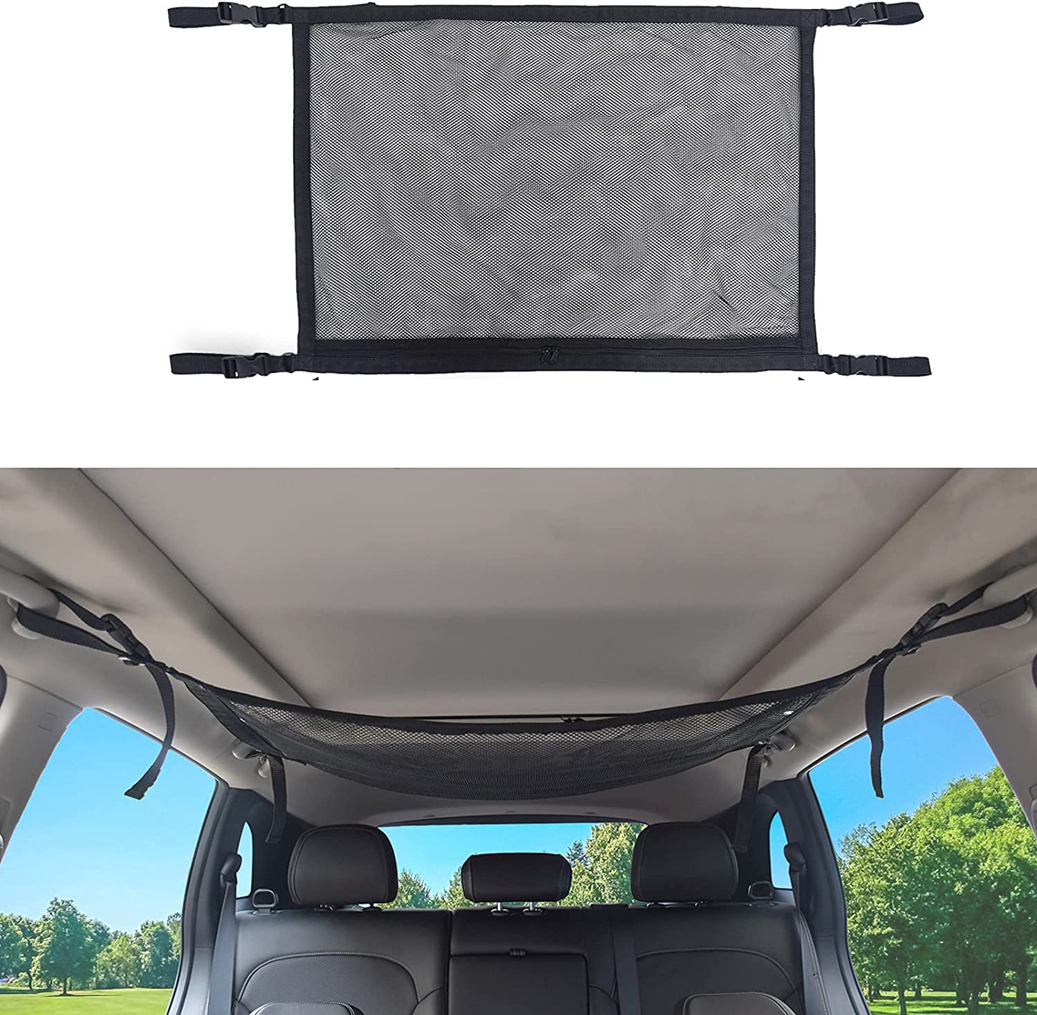 Car Ceiling Cargo Net Pocket A Storage Ranking integrated 1st place Charlotte Mall Interior