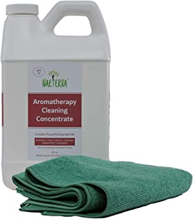 64 oz Naeterra Aromatherapy Cleaning Concentrate - 4 Thieves Household Cleaner - 100% Natural and Non Toxic - Makes up to ...