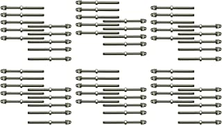 Muzata Hand Swage Tensioner Fitting Threaded Stud End Terminal 60Pack 1/8