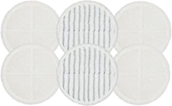 Flintar 2124 Spinwave Replacement Mop Pads for Bissell Bissel Spinwave Hard Floor Cleaner Powered Rotating Mop 2039 Series, 2307, 2315A, Part # 2124 (6 - Pack (4 Soft Pads + 2 Scrubby Pads))