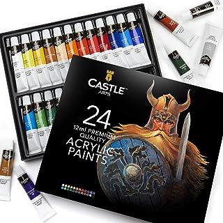 Scatola di colori acrilici per principianti, studenti o artisti - perfetta combinazione di qualità e versatilità - Colori ...