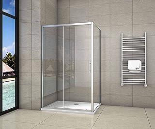 Cabina de Ducha Rectangular Puerta Corredera Cristal Templado 5 MM ...