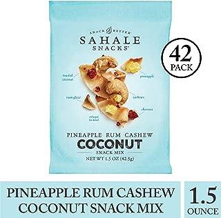 Sahale Snacks Pineapple Rum Coconut Snack Mix, 1.5 Ounces, 42 Count