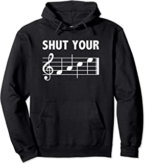 shut your face music notes