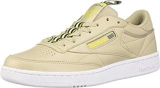 Reebok Men's Club C 85 Sneaker, Light Sand/White/Lemon Pepper/Cold Grey, 13 M US