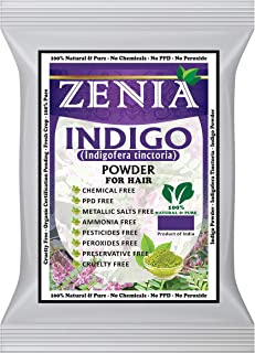 Zenia Indigo Powder (Indigofera Tinctoria) Hair/Beard Dye Color 100 grams