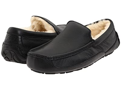 UGG Ascot Leather (Black Leather) Men