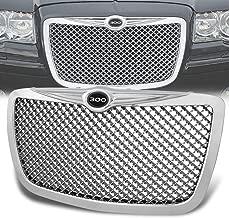 Rxmotor For Chrysler 300/300C ABS Plastic Mesh Front Bumper Grille (Chrome)