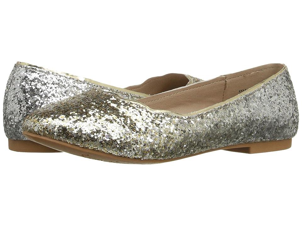 Sam Edelman Kids Anna Ballet (Little Kid/Big Kid) (Gold/Silver Gradient Glitter) Girls Shoes